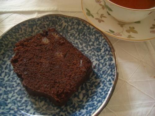 pound cake de chocolate amargo