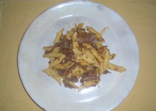 garganelli com ragù de pato