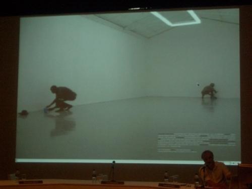 slide de um dos espaços restaurados para a Trienal de Luanda