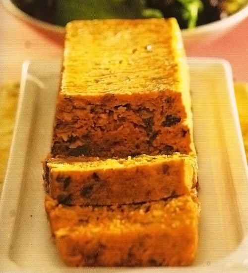 terrine de legumes e amendoas