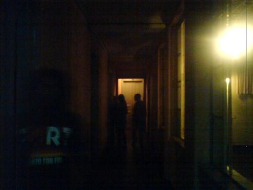 o corredor do Hotel Central