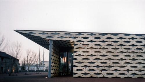 Chokkura Hiroba - construção feita com pedras autóctones