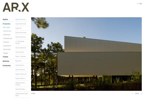 site do ateliê do José Mateus, ARX